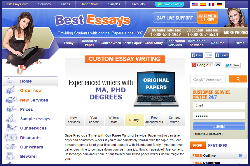 BestEssays Review [Total Score: 4/10] | Essaypaperonline.com
